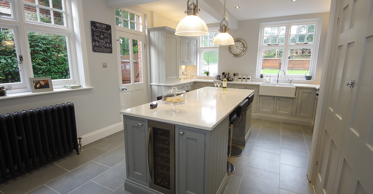 matt grey shaker kitchen