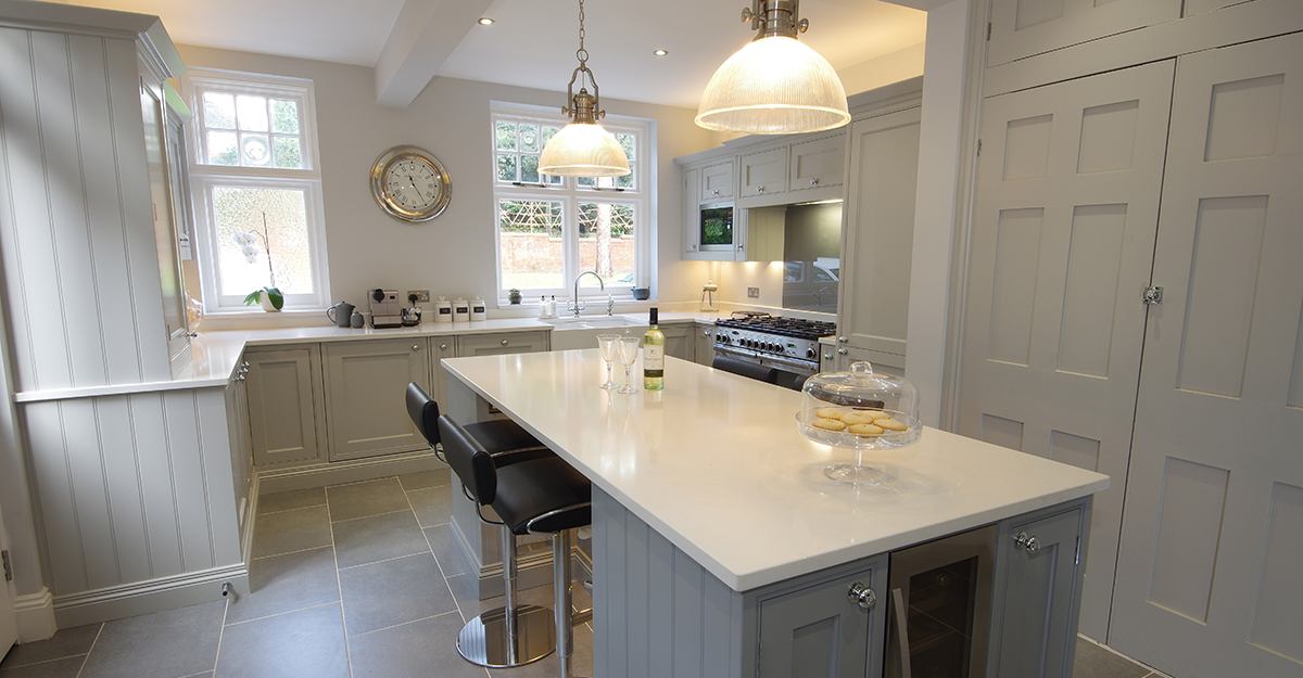 bespoke matt grey shaker kitchen