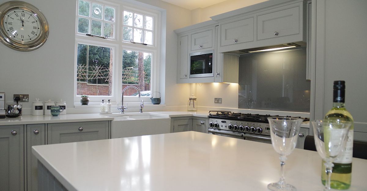 matt grey shaker hand painted kitchen maidstone kent